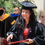 Lê Diệp Kiều Trang khi nhận danh hiệu thủ khoa trong buổi lễ tốt nghiệp thạc sĩ tại Học viện MIT (Mỹ) năm 2011 - Ảnh do nhân vật cung cấp