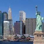 Tượng Nữ thần Tự do và khu vực hạ Manhattan ở New York