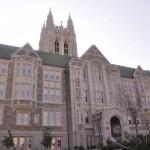 Gasson Hall, the 1st Collegiate Gothic architecture in North America, build in 1909